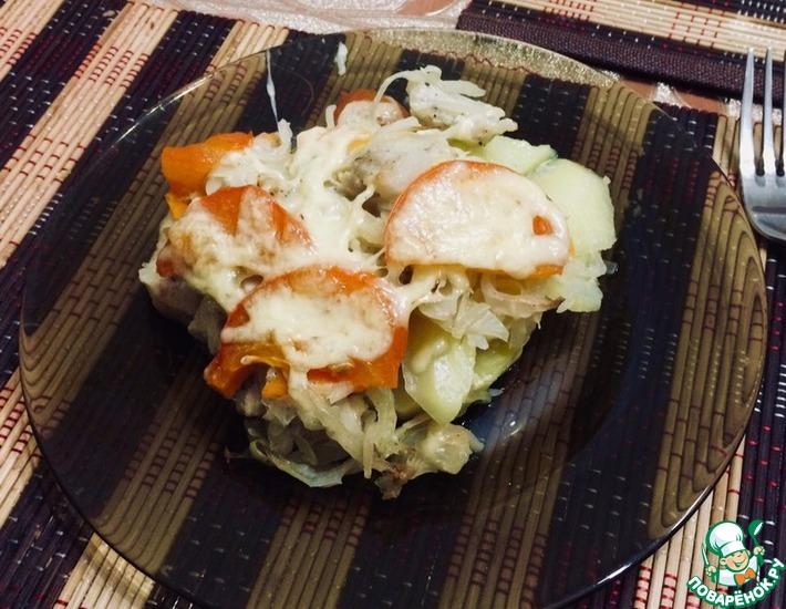 Рецепт: Свинина с овощами в духовке