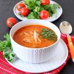 Алжирский куриный суп с кус-кусом