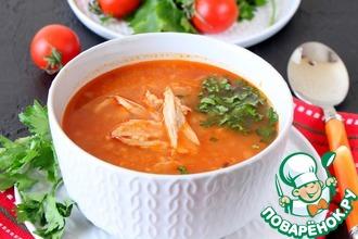 Рецепт: Алжирский куриный суп с кус-кусом