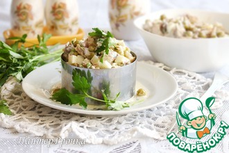 Рецепт: Рыбный салат Приятная гармония
