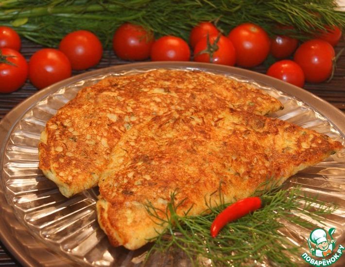 Рецепт: Фальшивые чебуреки из кабачков-2