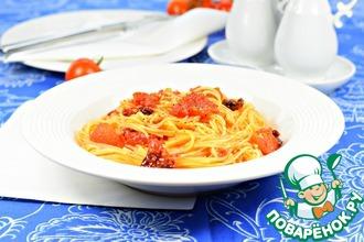 Рецепт: Спагетти с томатами за десять минут