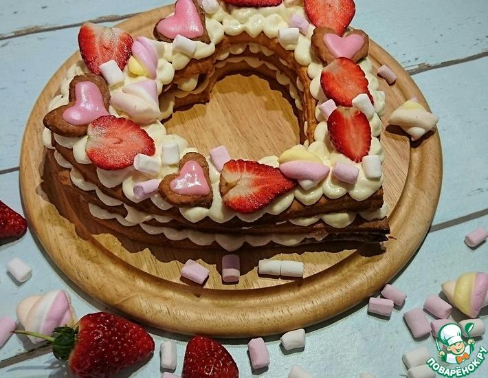 Рецепт: Торт Валентинка