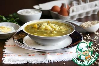 Рецепт: Щавелевый суп с перловкой