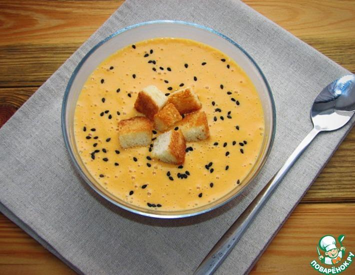 Рецепт: Рисово-тыквенный суп-пюре