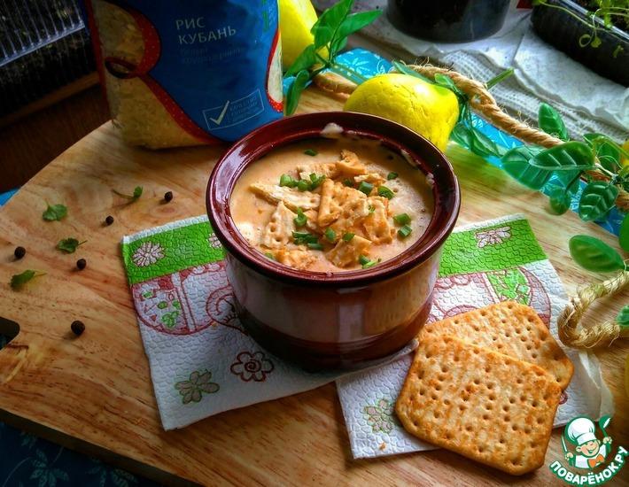 Рецепт: Сливочный суп-пюре с колбасками