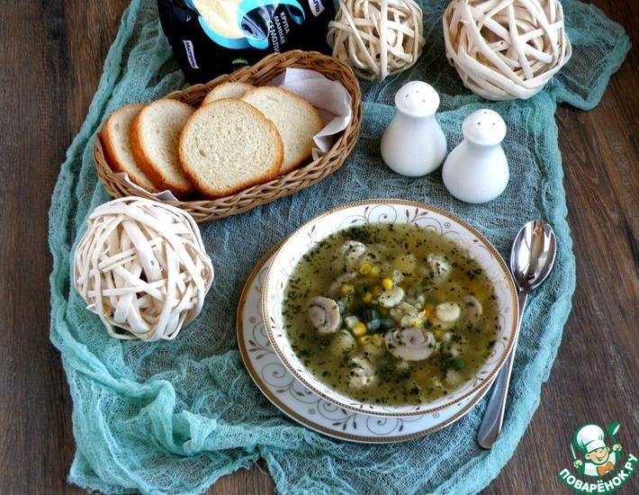 Рецепт: Суп с куриными кнелями