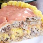 Ореховый торт безе с лимонным кремом