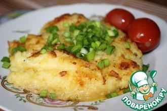 Рецепт: Свиная шейка в панировке из картофеля