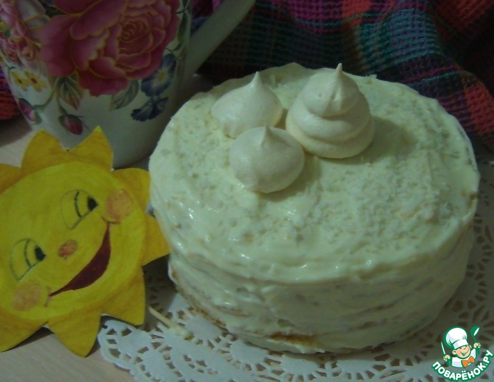 Рецепт: Блинный мини-торт Цитрусовая нежность