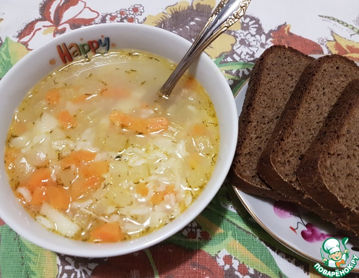 Рецепт: Лёгкий французский суп