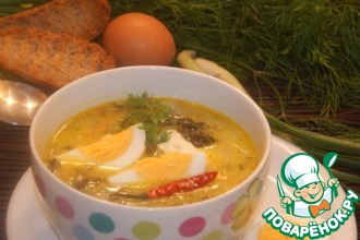 Рецепт: Шпинатный суп с лимонным соусом