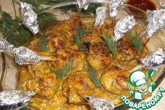 Рецепт: Куриные голени «Чистые руки»