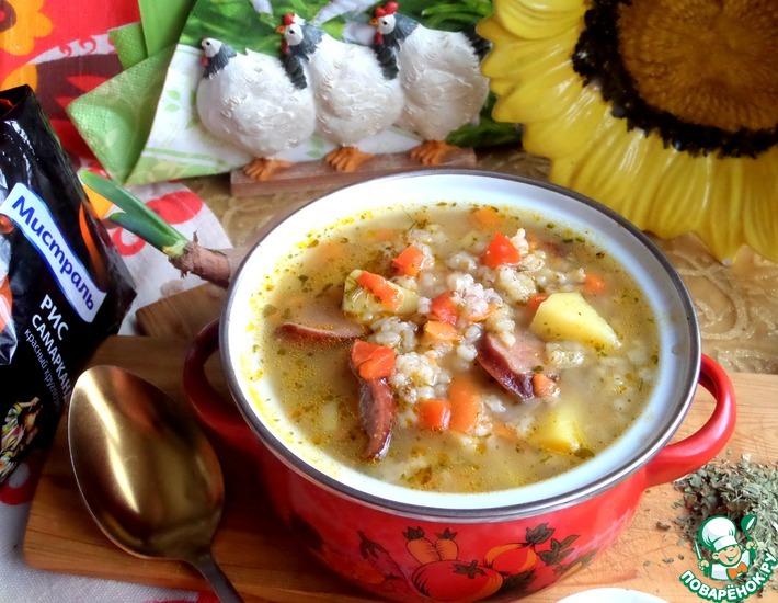 Рецепт: Суп с рисом и картофелем