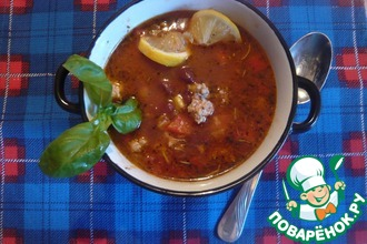Рецепт: Мексиканский острый суп