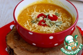 Рецепт: Острый тыквенный суп с кускусом