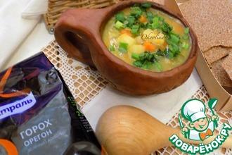 Рецепт: Постный гороховый суп по-деревенски