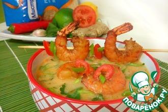 Рецепт: Суп с морепродуктами и рисом