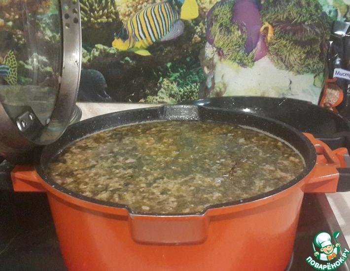 Рецепт: Суп фасолевый с орехами