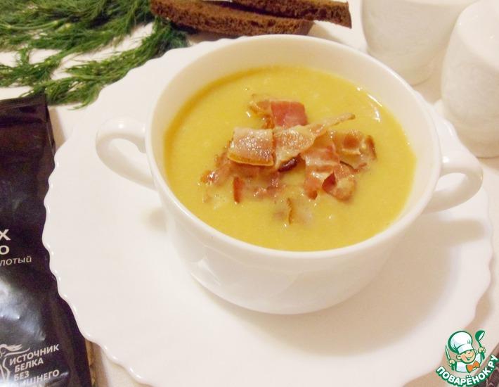 Рецепт: Гороховый суп-пюре с чоризо