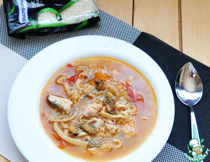Рецепт: Суп-гуляш с морепродуктами