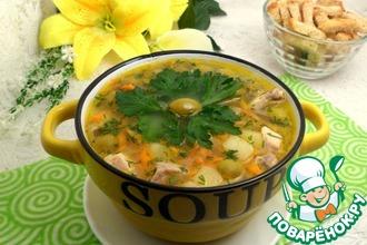 Рецепт: Оливковый суп с манной крупой