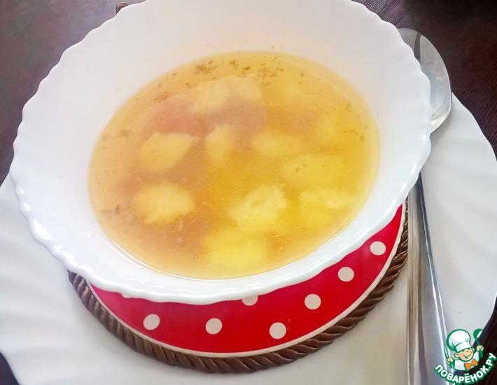 Рецепт: Суп картофельный с рисовыми клёцками