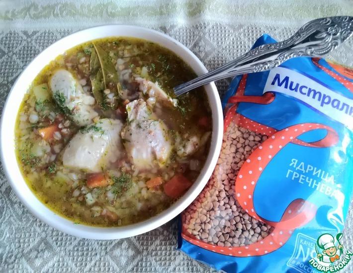 Рецепт: Гречневый суп с курицей