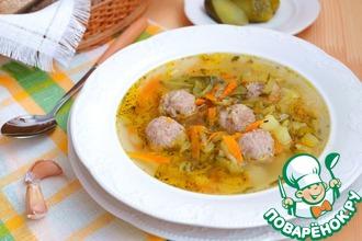 Рецепт: Суп с фрикадельками Рассольный