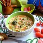 Сливочный гречневый суп