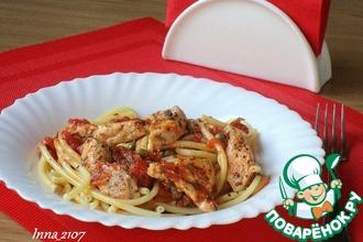 Рецепт: Спагетти с куриной грудкой