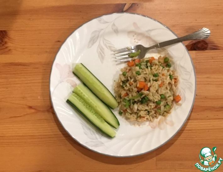 Рецепт: Китайский рис с овощами и с соевым соусом