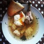 Куриный суп с клецками из булгура