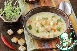 Рецепт: Суп с плавленым сырком и карри