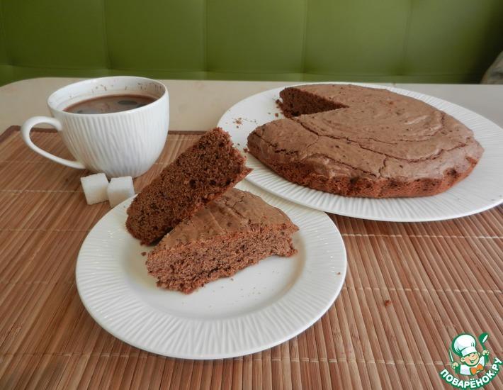 Рецепт: Шоколадный песочно-дрожжевой пирог-пряник