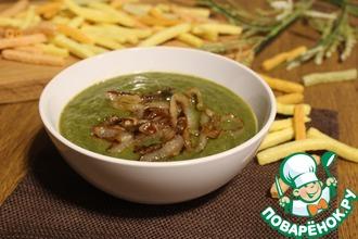 Рецепт: Гороховый суп-пюре с карамельным луком