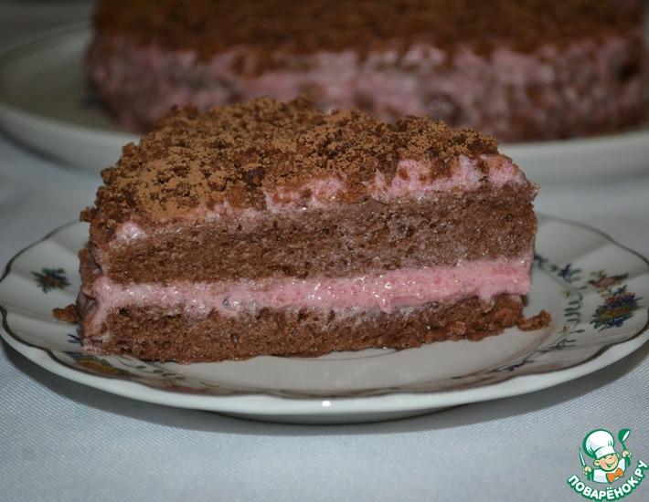 Рецепт: Постный шоколадный торт