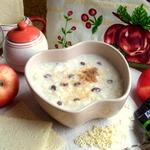 Молочный ванильный суп с кускусом