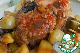 Рецепт: Свинина с картофелем Мужской каприз