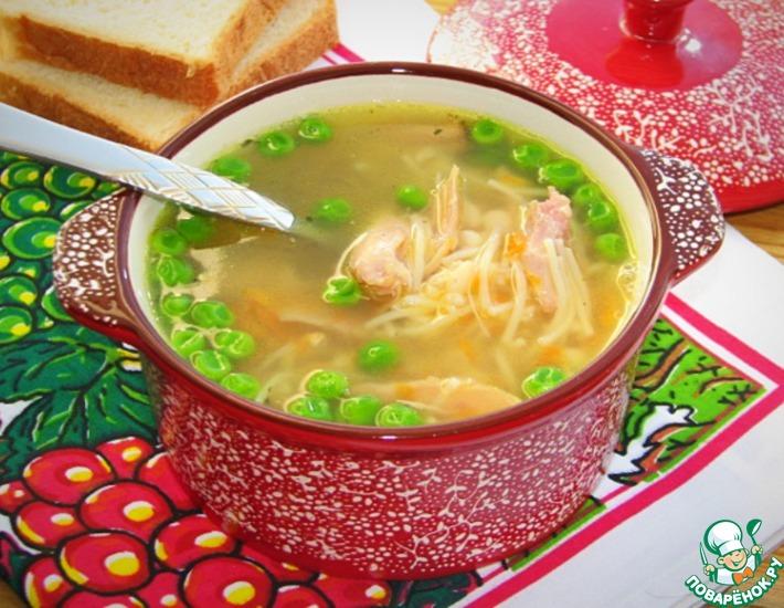 Рецепт: Фасолево-вермишелевый суп