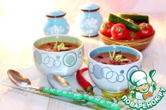 Рецепт: Фасолевый суп-пюре c сельдереем