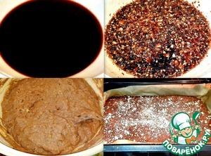Постное печенье с какао и миндалём фото