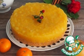 Рецепт: Ореховый яблочно-апельсиновый торт