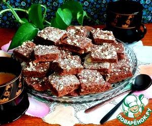Постное печенье с какао и миндалём Сахар коричневый