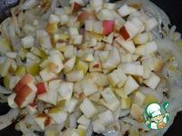 Свинина, тушенная с яблоками и луком ингредиенты