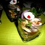 Салат из сельди под фруктовым соусом