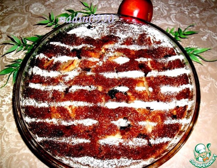 Рецепт: Кекс с яблоками и ягодой