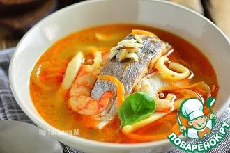 Рецепт: Рыбный суп с морепродуктами