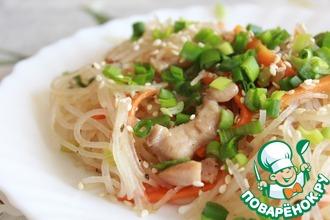 Рецепт: Лапша по-корейски с курицей