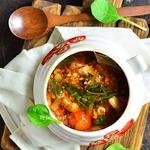 Гречневый суп с бараниной в духовке